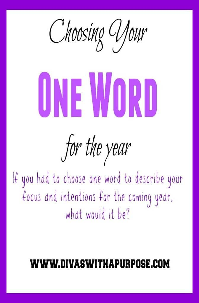Choosing Your One Word For The Year #OneWord