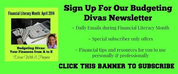 Budgeting Divas Subsribe Banner