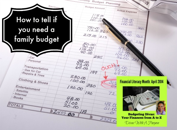 How to tell if you need a family budget