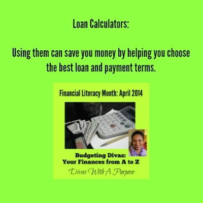 Using a loan calculator can help you choose the best loan for you. #AtoZChallenge #FinancialLiteracy