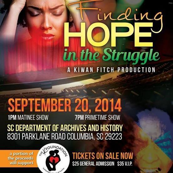 Finding Hope In The Struggle Flier