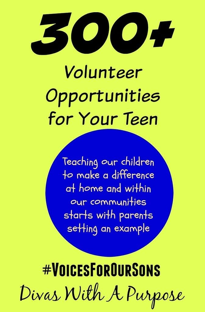 A collection of over 300 volunteer opportunities for teens to participate in within their local communities. #volunteer #givingback