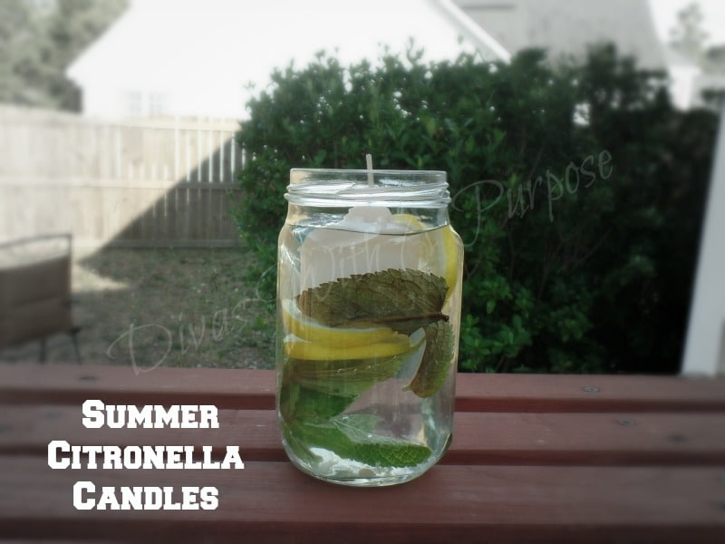 Summer Citronella Candles