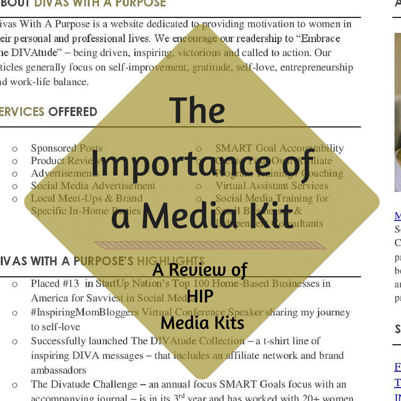 TheImportance ofA Media Kit