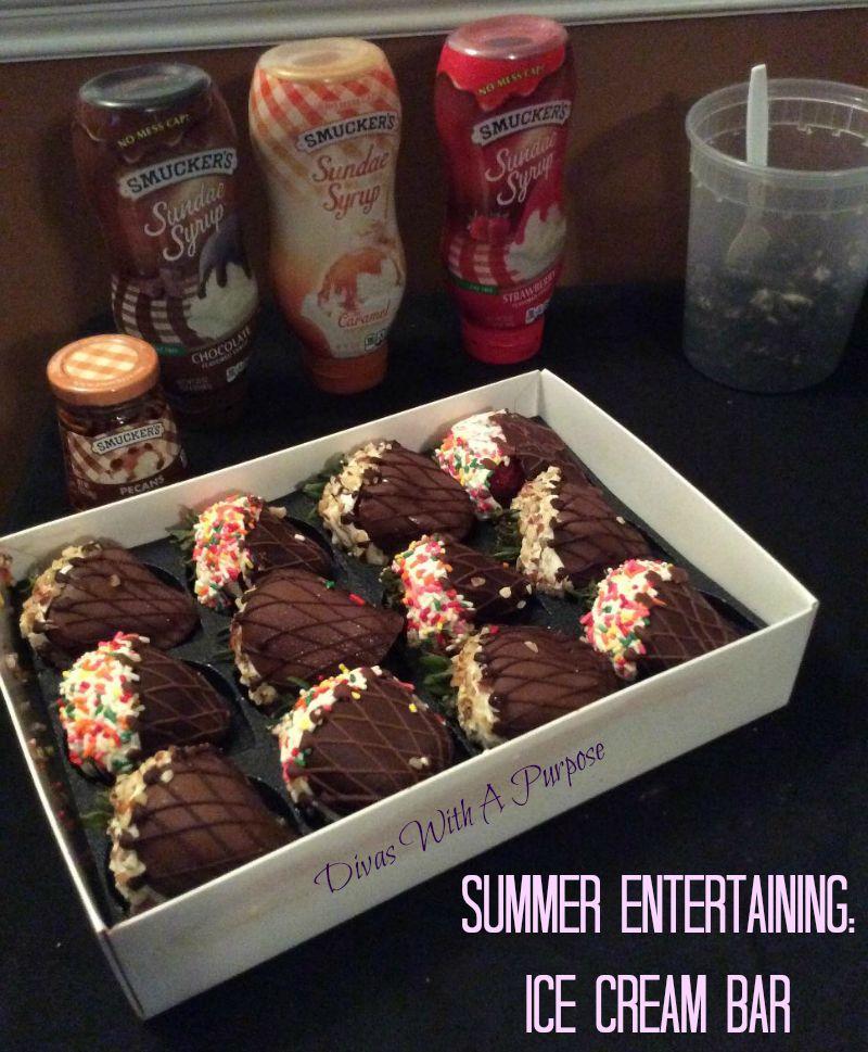 Summer Entertaining Ice Cream Bar