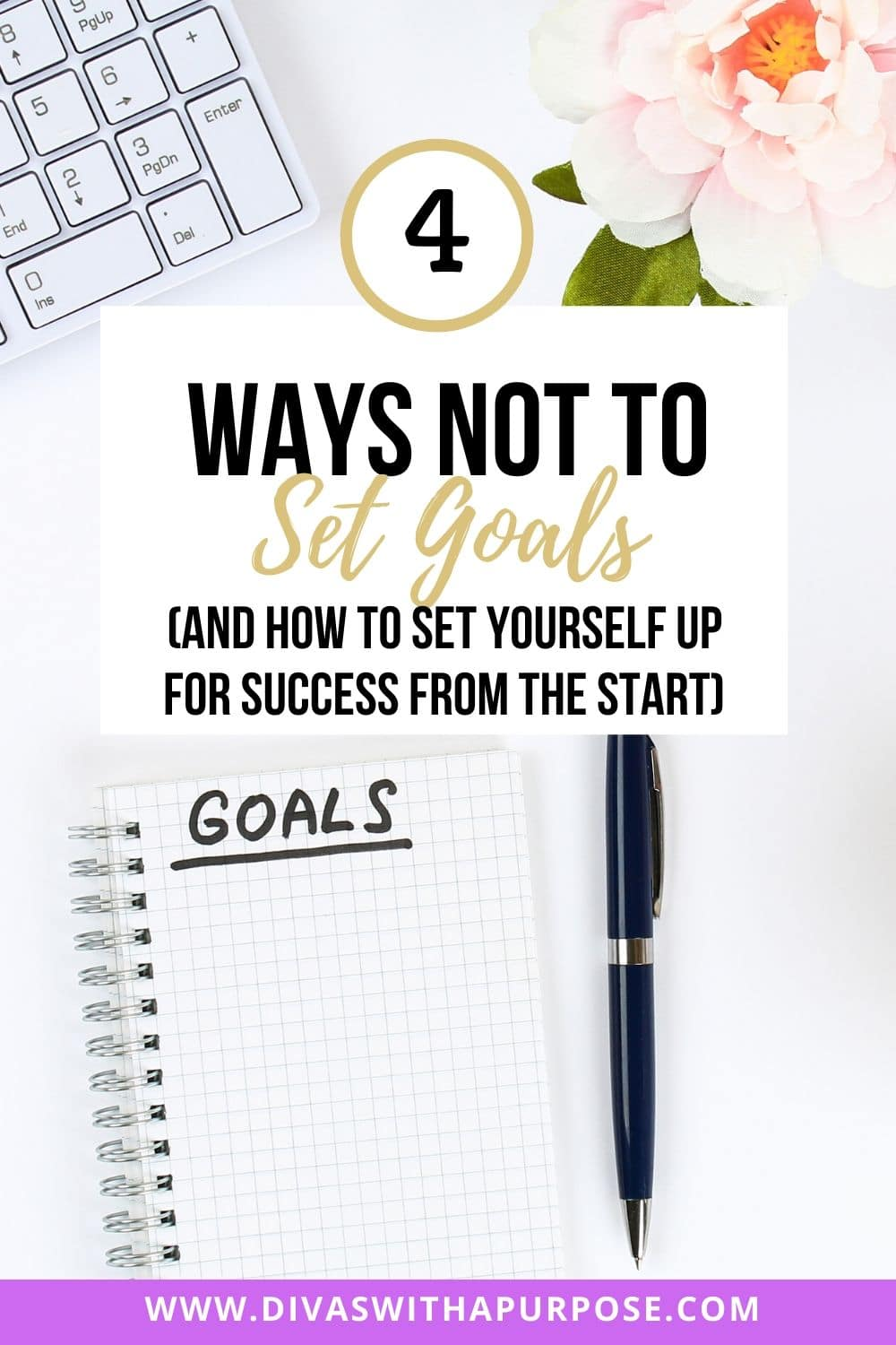 How not to set goals and ensure you are starting off with a plan of success | #goalsetting #goals