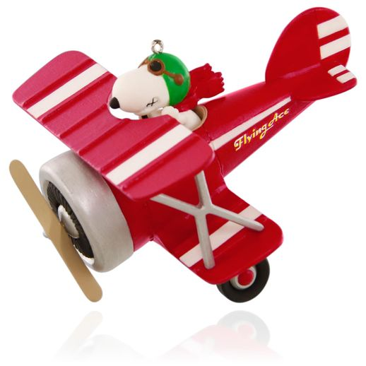Peanuts® Flying Ace Snoopy's Red Plane Ornament