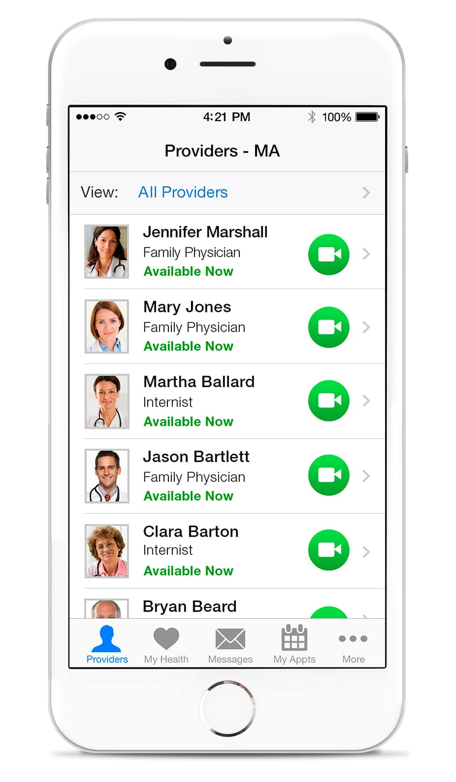 You can view the available Amwell providers, their background, and credentials and choose the doctor you're most comfortable seeing.