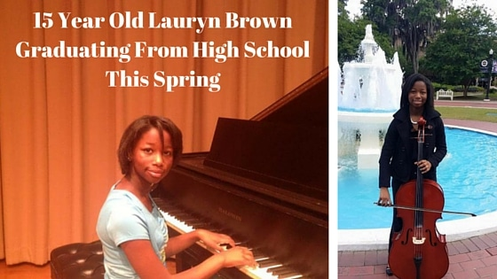 15 Year Old Lauryn Brown Graduating From High School This Spring
