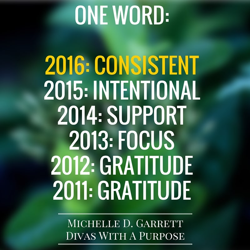 One Word 2016: Consistent