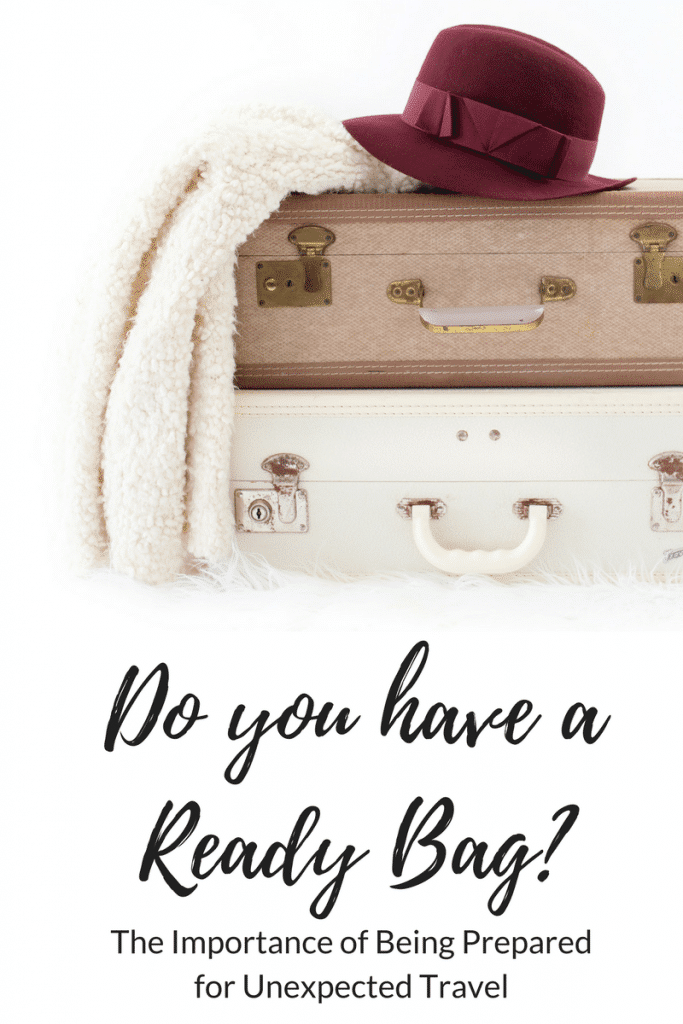 The Importance of a Ready Bag