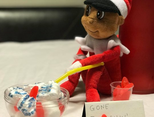 Holiday Countdown with our Mischevious Elf and Swedish Fish
