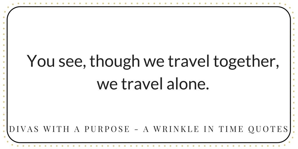 we travel alone