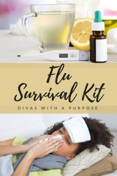 Your flu survival kit needs to have a few basic things to treat the worst of the symptoms and plenty of disinfectants to help control the germs when someone falls ill.