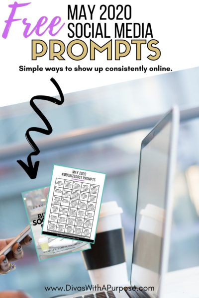 Free May social media prompts - simple ways to show up consistently online all month long