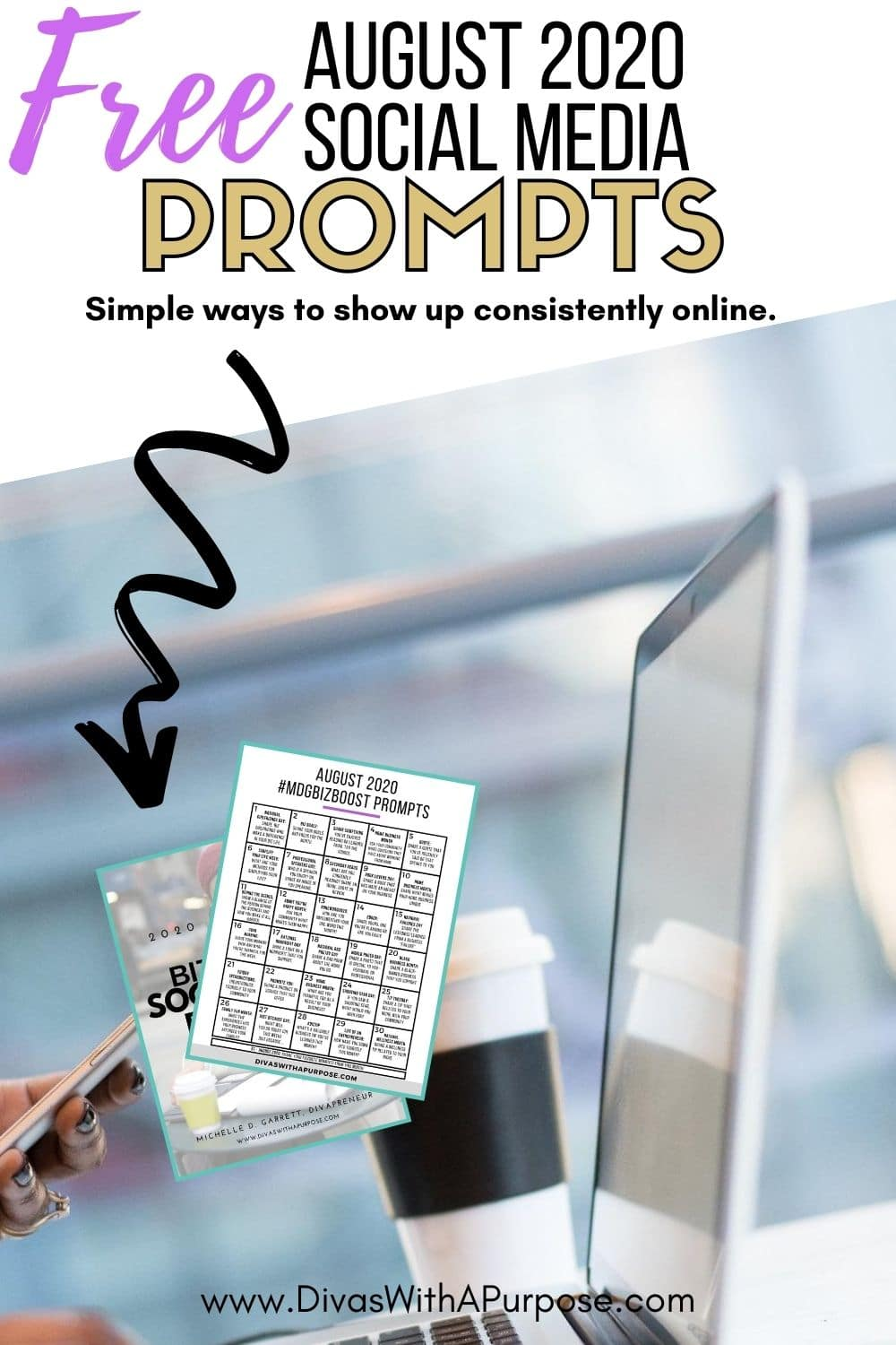 This article shares 31 August Social Media Prompts to help you show up consistently prepare your social media content calendar for the month. #socialmediaprompts #biztips #femaleentrepreneur