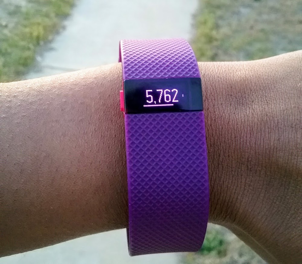 purple fitbit for walking