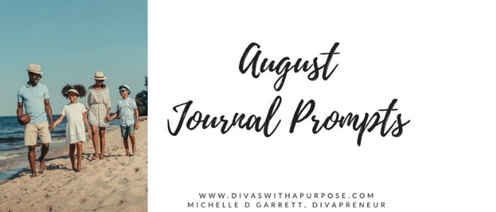 August Journal Prompts that are family friendly