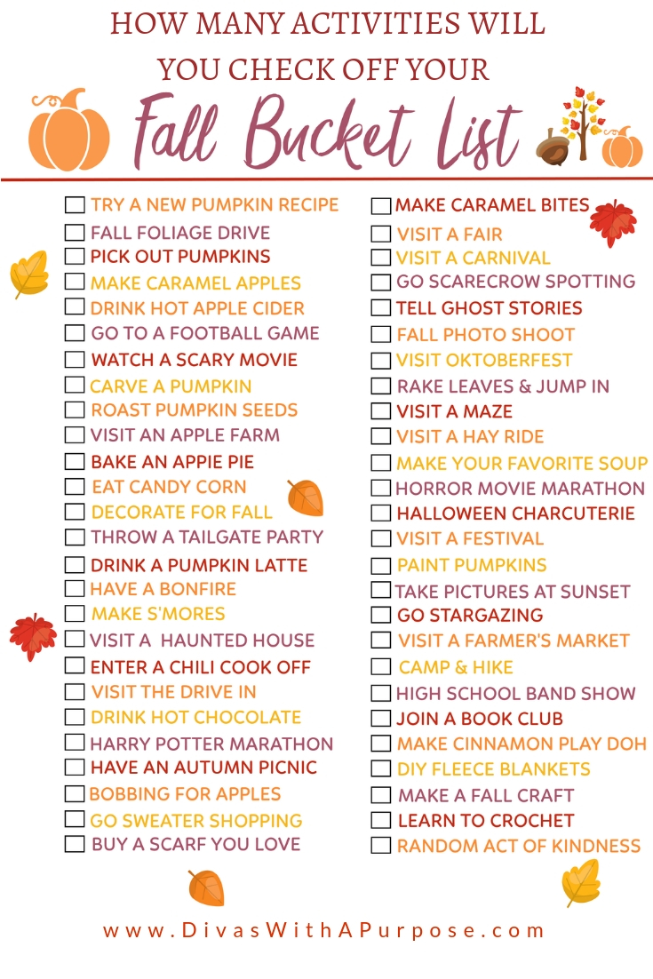 How many items will you cross of your fall bucket list
