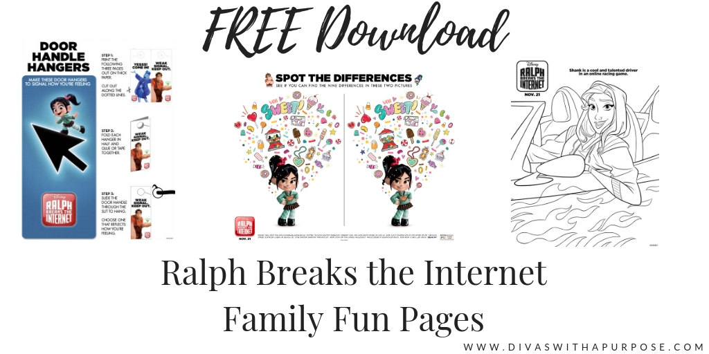 Ralph Breaks the Internet Family Fun Pages