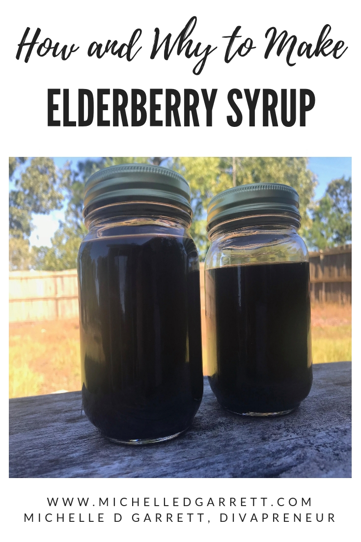 A simple elderberry syrup recipe to make for your family during cold and flu season. This article also shares the benefits of each ingredient. #healthyhabits #coldandflu