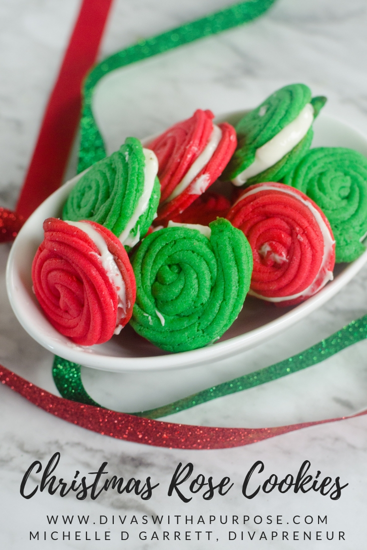 Christmas Rose Cookies