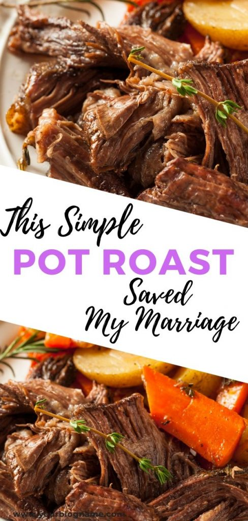 This simple slow cooker pot roast saved my marriage and changed the way my husband and I communicated with each other. It's that good y'all! #slowcookerrecipes #simplerecipes #potroast