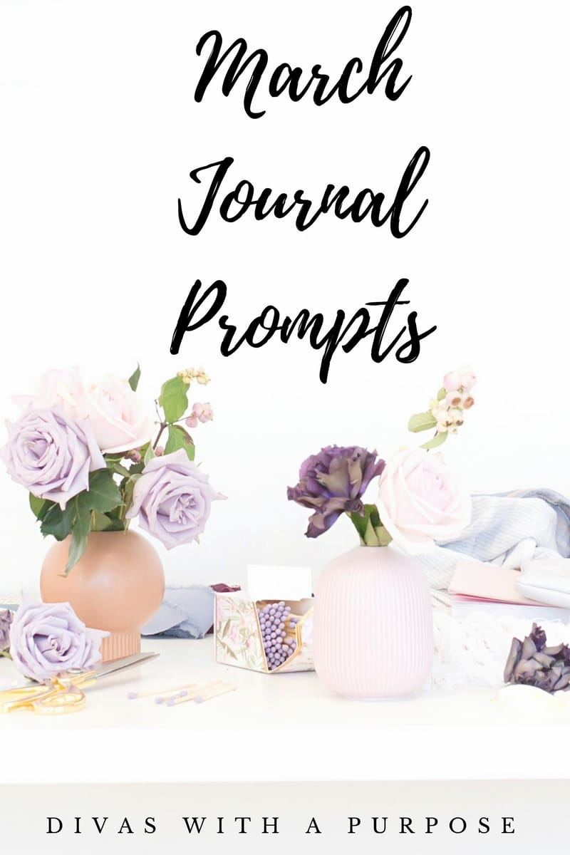 This article shares 60+ March journal prompts that can be used for your personal journaling, group discussions and business social media engagement. | #journalprompts #journaling