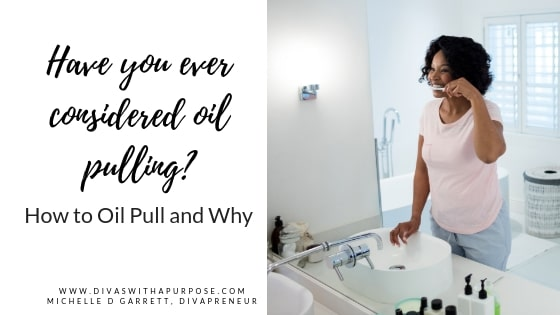 How to Oil Pull and Why. This article gives simple steps on how and why you should add oil pulling to your daily regimen. #oilpulling #coconutoil #healthyhabits