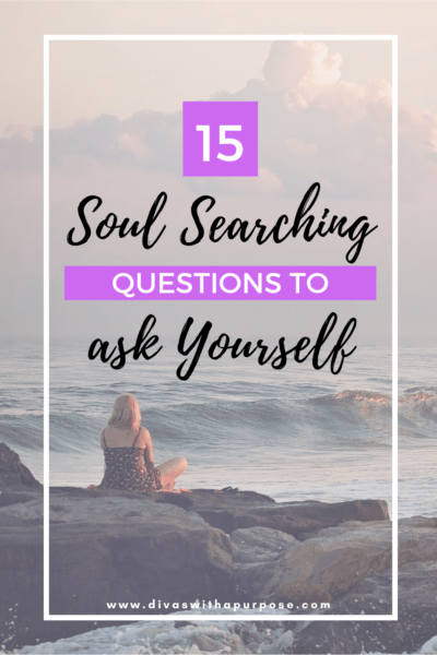 These are 15 life-changing soul searching questions to ask yourself to tap into your wants, needs, desires, and life goals. Start digging deep today! #soulsearching #purpose