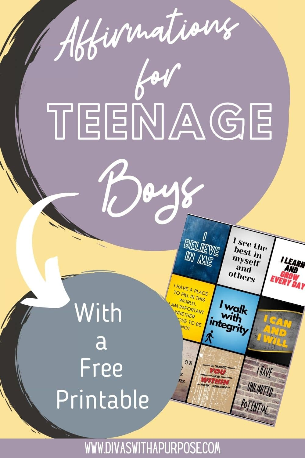 This article shares simple affirmations for our teenage sons that will help instill confidence and positive self-talk.