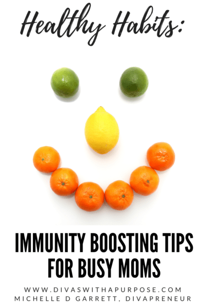 Following these five simple immunity boosting tips for moms will help keep you free from illness during the flu season. #healthyhabits #fluseason