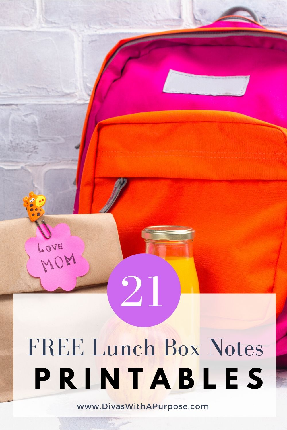 21 Free Lunch Box Notes Printables #lunchboxnotes #printable