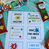 Free Superhero Lunchbox Notes