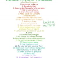 30 Random Acts of Kindness Ideas for Kids - Natural Beach Living