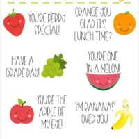 Lunch Box Notes - Free Printables