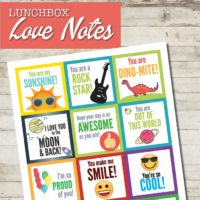Printable Lunch Box Notes Kids Will Love