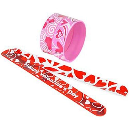 """Valentine Day 9"""" Heart Slap Bracelets"""