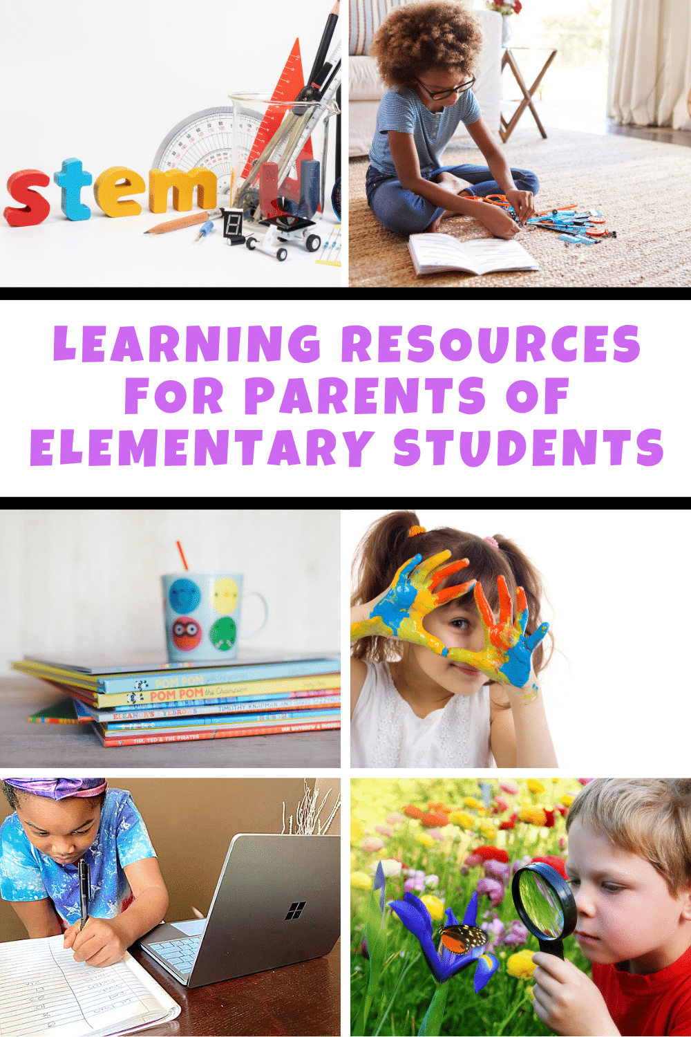 A comprehensive list of learning resources for parents of school-aged children to reference for fun educational activities at home