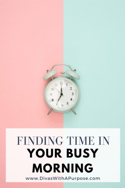 Finding time in your busy morning so you can feel calm and in control