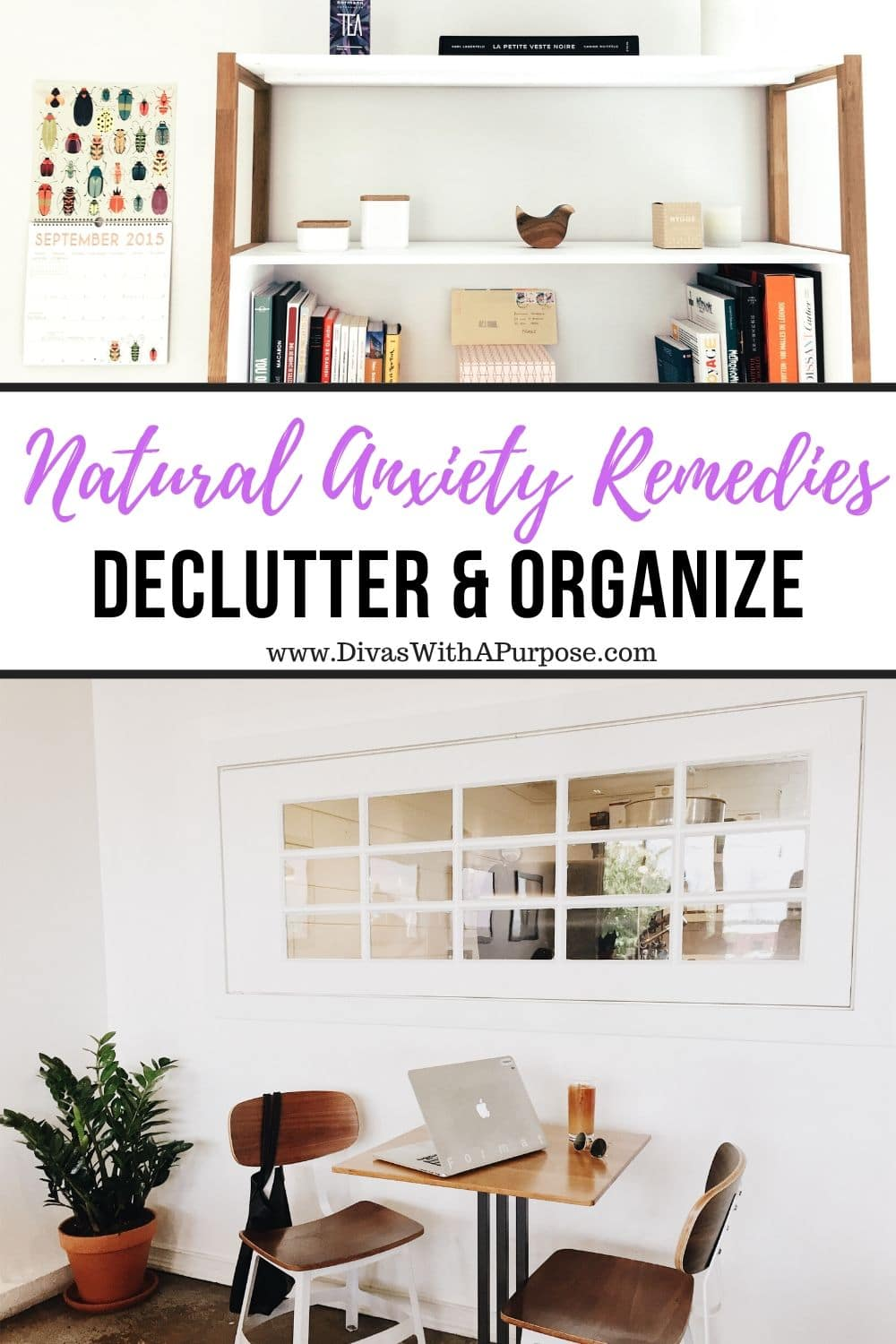 Decluttering and organizing are natural anxiety remedies