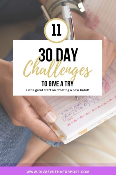 Eleven 30 day challenges to give a try and create new habits