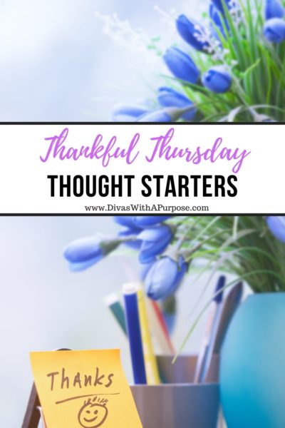 Thankful Thursday thought and conversation starters to use in your personal journaling, family conversations, and online chats. | #ThankfulThursday #gratitude
