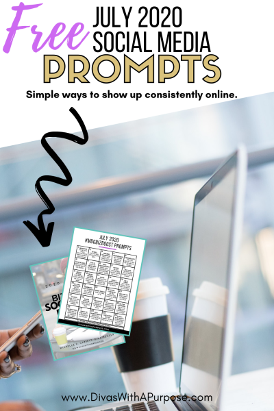 This article shares 31 July Social Media Prompts to help you show up consistently prepare your social media content calendar for the month. #socialmediaprompts #biztips #femaleentrepreneur