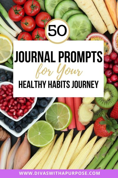 Adding journaling to your healthy habits routine helps tie in what you are doing to become a healthier you. Here are journal prompts to get you started. | #healthyhabits #journalprompts
