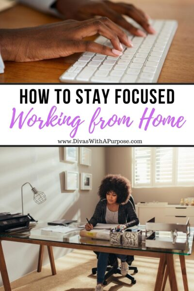 Working from home is exciting, but it can be overwhelming if you struggle with focus or discipline. Here are 6 ways to help you stay focused. #productivity #stayfocused #workfromhome