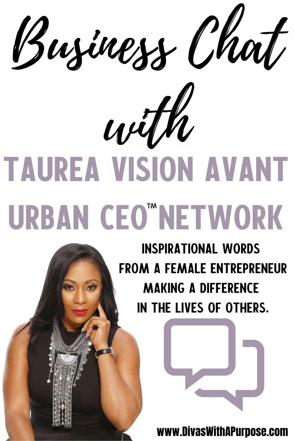 A business chat with URBAN CEO Founder Taurea Avant on what inspires and motivates her in business.