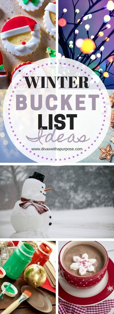 Here are fun ideas to help you plan out your family's winter bucket list. #winterbucketlist #familytime #bucketlist